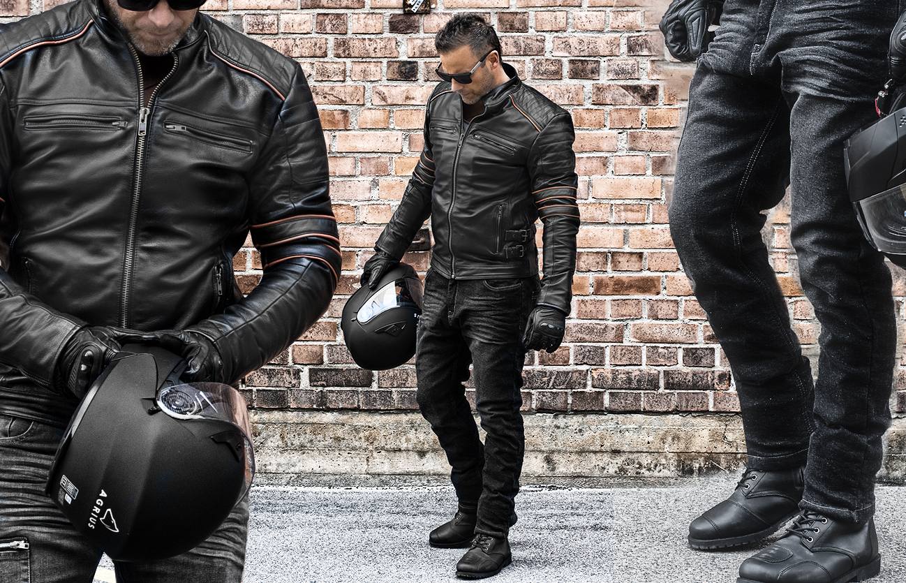 KEVLAR PACKAGE - BIKER BLACK SUMMER PACK LEATHER