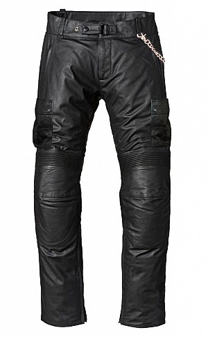 ATA TOURING CHAIN BLACK LEATHER motorcycle pant