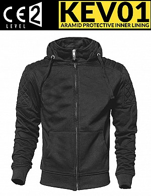 KEV01 CLASSIC BLACK CE PROTECTION MEKEVLAREN MC HOODIE