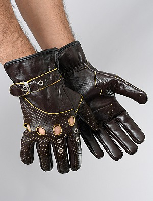 ATA FOX TOUR SHORT DARKBROWN GLOVES
