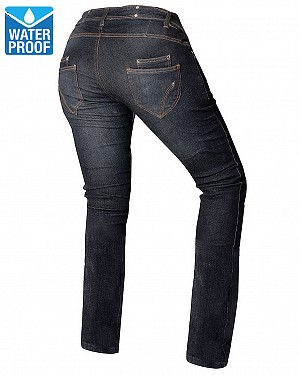 LADY KEVLAR WATERTENS COMMANDER DARKBLUE MC JEANS PANTS 3D5