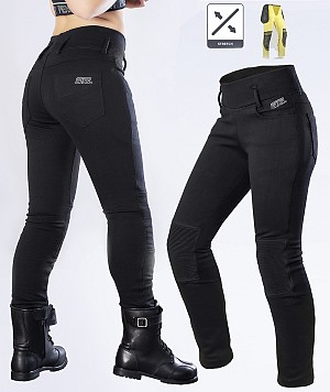 DAME KEVLAR LEGGINGS BIKER MC TROUS