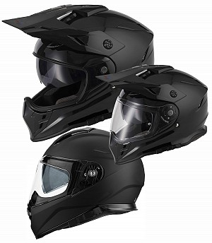 V331 DUAL SPORT CROSS / MOTORCYCLE 3in1 BLACK MATT Motorcycle / Crosshjälm
