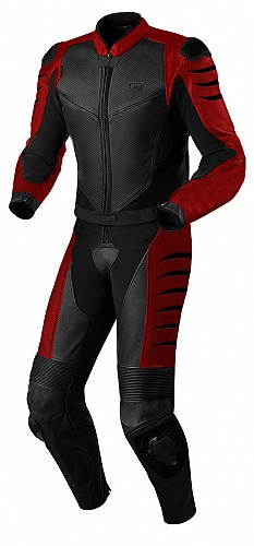 ATA CRUDE RED 2-PIECE / DELAT leather suit