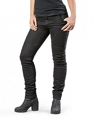 LADY RANGER BLACK KEVLAR JEANS MC TROUSERS