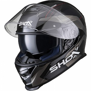 SHOX ASSAULT EVO SECTOR GREY 1303 MOTORCYCLE HELMET