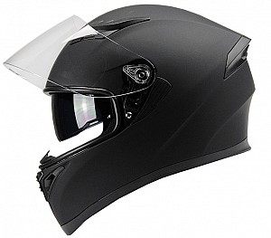 BNO F600 MATT BLACK SOLVISIR INTEGRAL MC HELMET