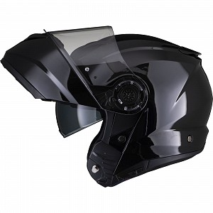 Black Optimus II Flip Front Gloss Black 53071503 Opening mc helmet