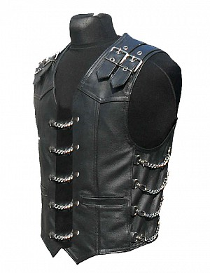 RETRO RIDER BIKER LEATHERVEST Leather vest
