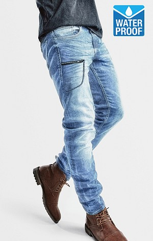 KEVLAR WATERPROOF COMMANDER SKYBLUE MC JEANS TROUSERS SKBL1