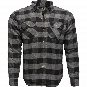 BLACK COYOTE KEVLAR 1304 GREY BLACK MOTORCYCLE SHIRT