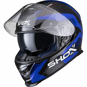 SHOX ASSAULT EVO SECTOR SAFETY BLUE 0303 MOTORCYCLE HELMET