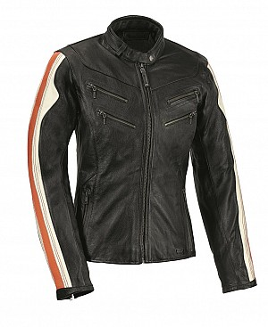 ATA MADE TO MEASURE Lady Antique motorcycle jacket  + Refoma Black LEATHER TROUSER