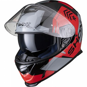 SHOX ASSAULT EVO RECOIL BLACK/RED 0203 MOTORCYCLE HELMET