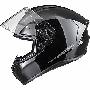 SHOX ASSAULT VO BLANK GLOSS BLACK 0103 MOTORCYCLE HELMET