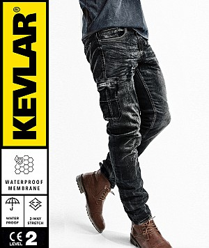 CARGO KEVLAR  WP DARKNIGHT BOBBER MC JEANS