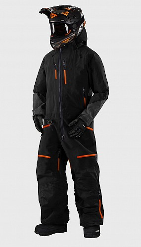 LADY SNOWPEAK ORANGE OVERALL ATV/SNOWMOBILE CE ALL WEATHER TEXTILE SNOW SUIT