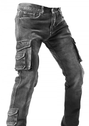 DENIM SIDEPOCKET RANGER KEVLAR GREY MOTORCYCLE PANT