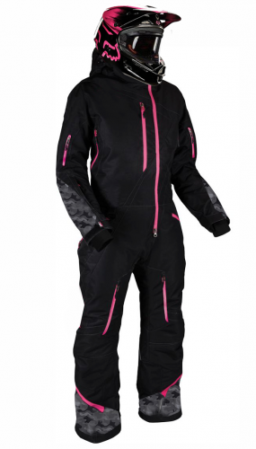 LADY SNOWPEAK PINK OVERALL ATV/SNOWMOBILE CE ALL WEATHER TEXTILE SNOW SUIT