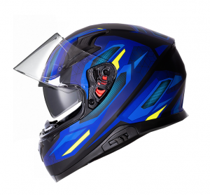 SPORTTOUR 917-BS BLUE BLACK MATT MOTORCYCLE HELMET