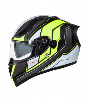 FEATHERLIGHT RT-826 BLACK MATT NEON SOLVISIR INTEGRAL MC HELMET