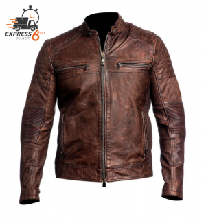 XPR ATA GHOST VINTAGE BROWN SKIN JACKET 83628