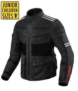 JUNIOR / KID ROADWAY 365 TOURING BLACK ALLVÄDER MC JACKET JKR-365