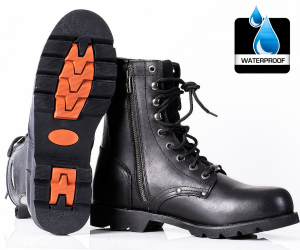 HD BIKER RAGE BOOTS WATERPROOF mc boots C-101