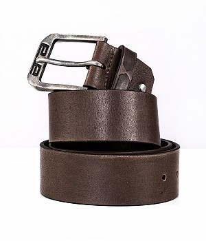 ATA LEATHER BELT BROWN MC SKINN BELT