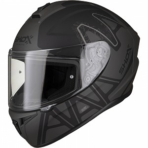 SHOX SNIPER EVO CALIBER MATT BLACK 0103 MC HELMET