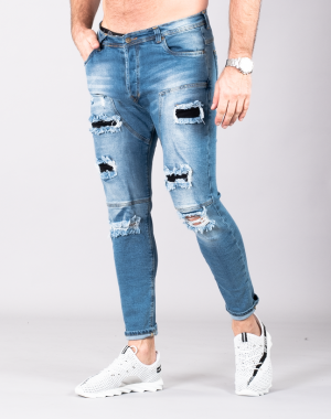 SUPREME AV8 STREETCON LIGHT BLUE CARROT FIT JEANS