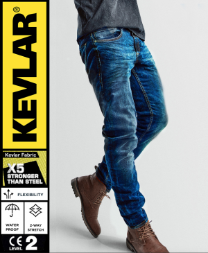 KEVLAR CRUISER V2 WP ORIGINAL BLUE BOBBER MC JEANS
