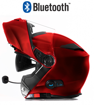 BLINC BLUETOOTH DARKRED RS983 STEREO MC HELMET