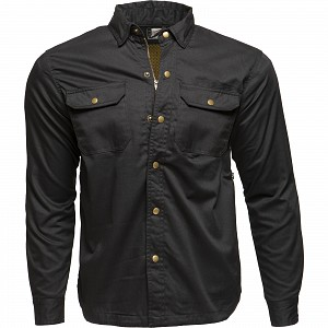 BLACK COYOTE KEV01 0104 BLACK MOTORCYCLE SHIRT