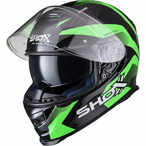 SHOX ASSAULT EVO SECTOR GREEN 0703 MOTORCYCLE HELMET