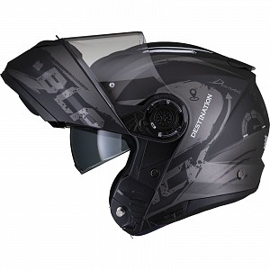 Black Optimus II Destination Flip Front Matt Titanium 52970603 Opening mc helmet