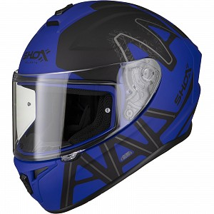 SHOX SNIPER EVO CALIBER MATT BLUE 0303 MC HELMET