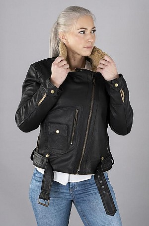 LADY AVIATOR BLACK SHEARLING SKINNJACKA 2003