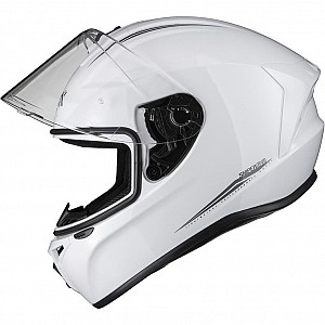 SHOX ASSAULT EVO BLANK GLOSS WHITE 1003 MOTORCYCLE HELMET