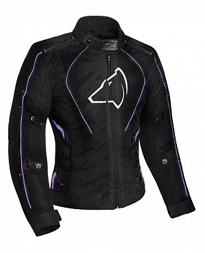 Lady Agrius Gemini Motorcycle BLACK/PURPLE 51033-0404 MC JACKA