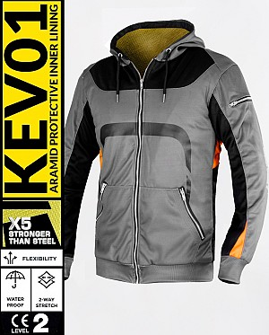 KEV01 PREMIUM ROADSTER WATERPROOF MEKEVLAREN MC HOODIE