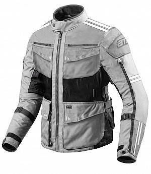 ATA ROADWAY 365 TOURING SILVER Textile Motorcycle Jacket 300008