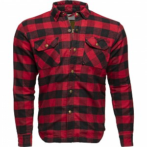 BLACK COYOTE KEV01 0204 BLACK RED MOTORCYCLE SHIRT