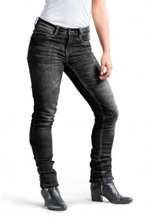 LADY RANGER GRAY KEVLAR JEANS MC TROUSERS