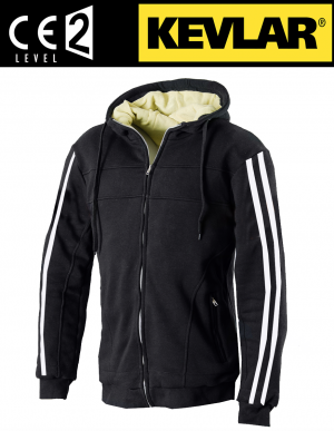 ATA KEVLAR HOODIE WHITESTRIP HD mc shirt WS03