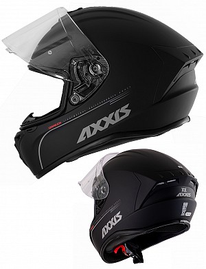 AXXIS DRAGON MATT BLACK AERO INTEGRAL MC HELMET