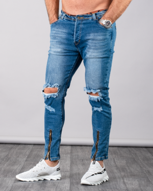BLK RIPPED JEANS 32