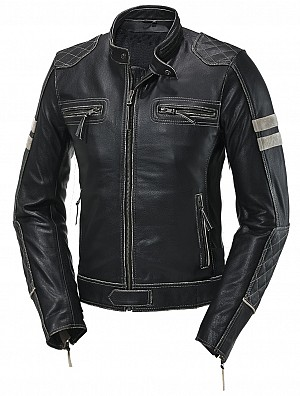 ATA LADY RIVERDALE MOTORCYCLE LEATHER JACKET