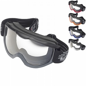 Black Granite Motocross Goggles