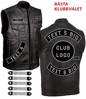 PREMIUM CLASSICO PATCH CLUB SPECIAL LEATHER VEST